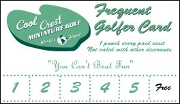 Pick up your Frequent Golfer card!